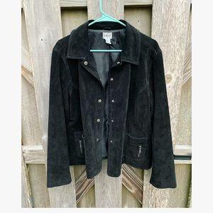 Chico's Genuine Leather Jacket Size 3